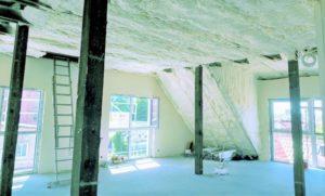 Ocieplenie stropu i ścian pianą pur